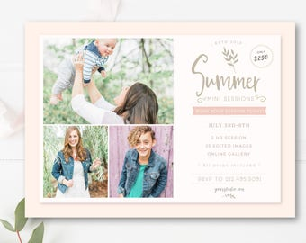 Summer Mini Session Template, Summer Minis Template, Mini Session Marketing - INSTANT DOWNOAD
