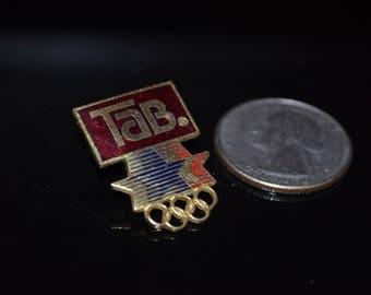 "Vintage Coca Cola ""Tab"" Atlanta Olympics Lapel Pin"