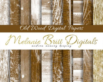 OLD WOOD digital paper pack, distressed wood, rustic wood background, old wood panels, worn wood papers, wood textures, printable wood paper