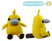 Platypus Toy Sewing Pattern, Stuffed Platypus, Softie Toy Sewing, Children Toy Sewing Pattern, Monotreme Plush, Australian Plush Animal Toy