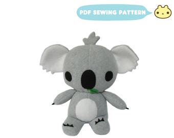 Koala Sewing Patterns, Koala Bear Toy, Koala Stuffed Animal Pattern, Stuffed Animal Pattern, Koala Toy Pattern, Baby Koala, Koala Toy Sewing