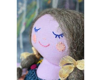 Plushies doll is made with fabric and the best quality materials all by hand in lovely Barcelona!!!