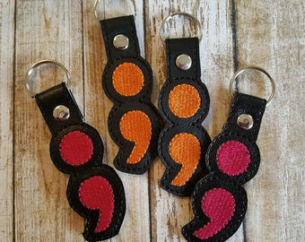 Semicolon Key Chain