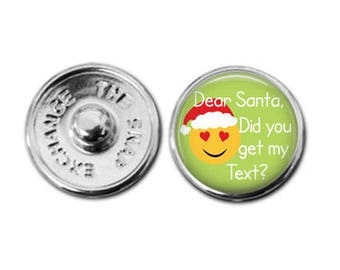 Holiday emoji charm, emoji jewelry, christmas emoji, Santa charm, Santa emoji, kid jewelry, tween jewelry, kid fashion, trendy jewelry
