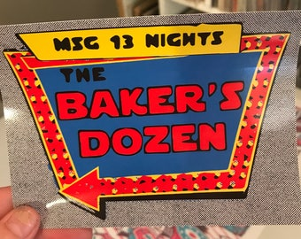 PHISH Bakers Dozen summer tour sticker 2017 phanart NYC