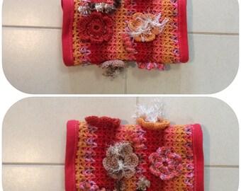 Red Crochet Fidget Sensory Twiddle Muff Dementia Alzheimers Autism