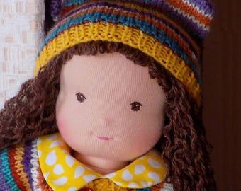 15 inch soft doll, rag doll, textile doll, fabric doll, custom doll, cloth doll, personalized doll, waldorf doll