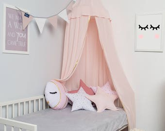 Canopy light pink, Tent canopy, Bed Canopy, Crib Canopy, kids canopy, Play room canopy
