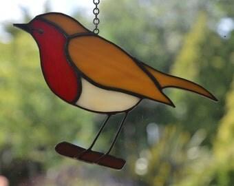 Robin (European) - Stained Glass Suncatcher