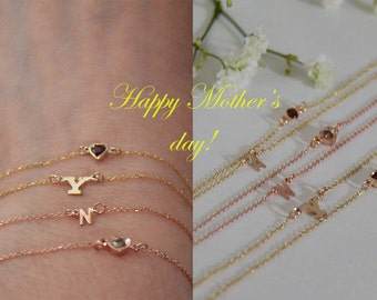 Initial diamond bracelet 10k,Diamond and initial bracelets 10k,Gemstone bracelets 10k,Solid gold letter bracelets,Women diamond bracelets.