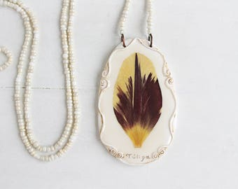 Real Tulip Flower  Pendant, Real Flower Jewelry, Romantic Pendant, Botanical Jewelry, Preserved Flower, Nature Jewelry, Nature Pendant