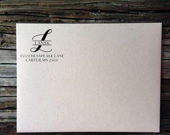 Wedding Labels // Monogram Calligraphy Return Address Labels // We've Moved! Address Labels // Custom Return Address Labels