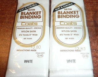 Coats Satin Blanket Binding White Color