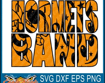 Hornets Band| SVG| DXF| EPS| Png| Cut File| Hornets| Band| Mom| Dad| Vector| Silhouette| Cricut| Digital Download