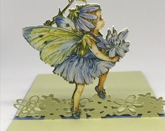 Four handmade pop up fairy gift cards