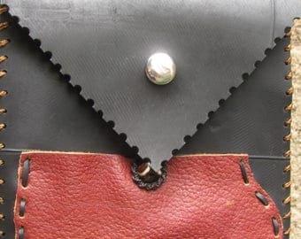Shoulder bag recycled inner tube