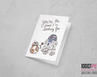 You're the droid I'm looking for - Star Wars: the Force Awakens greeting card