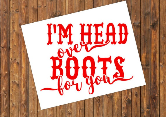 Free Shipping-Head Over Boots for You-Jon Pardi, Country Music, Southern Decal Sticker, Yeti RTIC SIC Tumbler Cup Decal Sticker