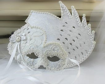 Masquerade Costumes For Women, Mardi Gras Mask, Masquerade Ball Masks, White Lace Mask, Party Mask, Shabby Chic, Masquerade Mask, Party Girl