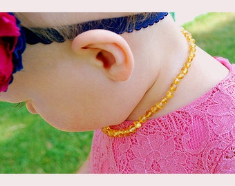 Baby Necklace Amber Teething Necklace Amber Girl Boy Necklace Raw Amber Healing Amber