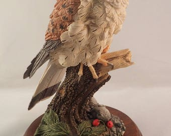 "Border Fine Arts Kestrel Figurine, Russell Willis Collection, Model No WB83 - 7"" Tall"