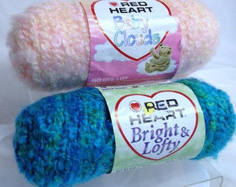 Red Heart Baby Clouds Chunky Yarn Red Heart Bright & Lofty Beach Yarn Ultra Soft Thick Yarn for Crocheting Super Bulky Knitting Yarn
