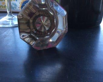 Vintage glass door knob wine bottle stopper