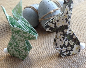 Origami Paper Easter Bunnies