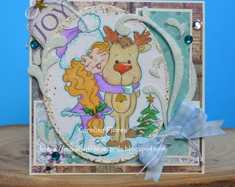 Winter Card, Shabby Chic Winter Card, Handmade Products