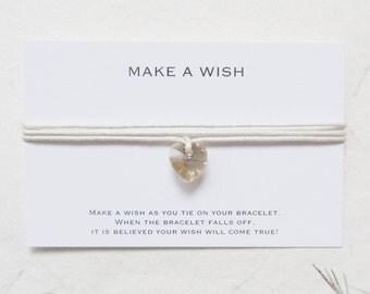 Wish bracelet, love bracelet, heart bracelet, friendship bracelet