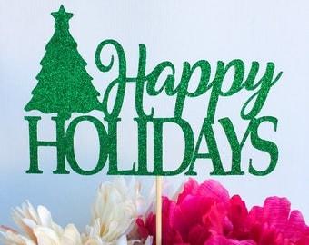 Merry christmas cake topper | Christmas cake topper | Holiday cake topper | Holiday decor | Happy holidays | Happy holidays cake topper