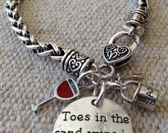Wine bracelet, wine jewelry, beach jewelry