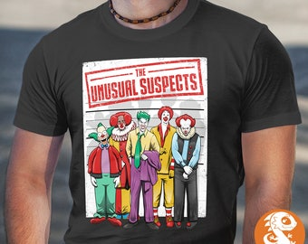 Unusual Suspects Shirt | Parody | PREMIUM QUALITY | Comic Tee | Geek Clothing | Pop Culture | Film | Movie | T-Shirt | Geek Tee