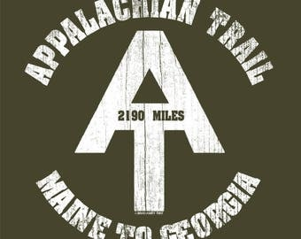 Appalachian Trail T Shirt Hiking Camping Canoeing T Shirt Cool National Parks FREE SHIPPING Soft Shirts