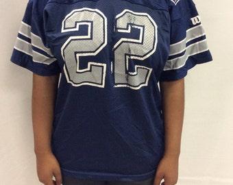 Vintage Emitt Smith Dallas Cowboys Jersey Youth XL