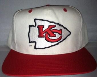 Vintage Kansas City Chiefs Snapback hat cap Eastport rare 90s nwt NFL deadstock