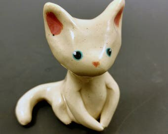 White Cat Figurine