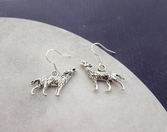 Wolf Earrings, Werewolf Earrings, Animal Earrings, Wolf Jewellery, Wolf Charm, Little Earrings, Werewolf Jewelry, Werewolf Costume, Wolves