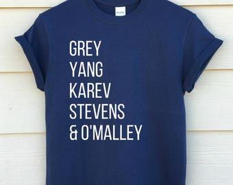 grey's anatomy shirt - unisex shirt - different colors