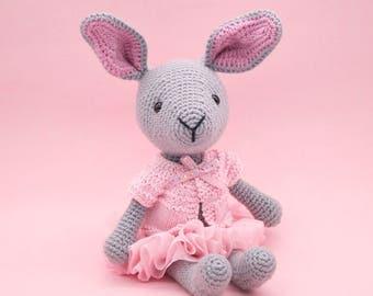 Amigurumi crochet DOLL - Sweet Little Puddles the bunny rabbit