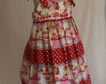 Girls dress, Handmade dress, Vintage style dress, Girls clothing, Kids clothing, Summer wear,The Daisy dress