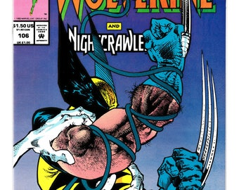 Wolverine-Nightcrawler #106 Marvel Comics Presents With Dr Strange-Gabriel Devil Hunter-Young Gods Stories 1992 NM Comic Book