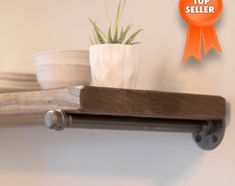 Floating shelves, Shelf, Rustic shelf, Reclaimed wood shelves, Pipe shelf, Shelf, Storage shelf, Shelves, Ships in 5-7 DAYS (business)