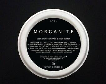 MORGANITE Green Tea Face & Body Butter Deeply Moisturizing, Dry Skin - Non Comogedonic