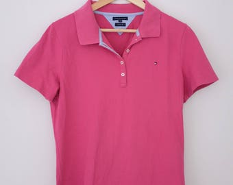 Vintage Pink Tommy Hilfiger Polo Shirt
