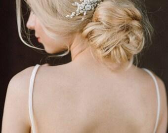 20% OFF- Wedding Hair Comb, Pearl Bridal Comb, Bridal Headpiece, Pearl Headpiece, Wedding Hair Accessory, Bridal Blossom Hair Comb