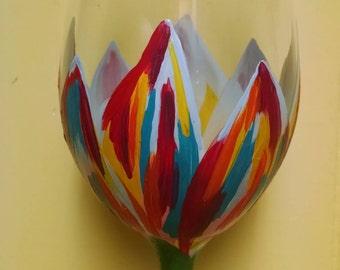 20 oz. Floral Wine Glass