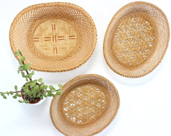 Woven Baskets, Wall Decor, Bohemian Style Home Decor