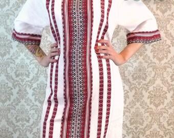 ukrainian embroidered dress vyshyvanka national gown ethnic folk sorochka