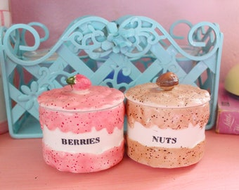 Vintage Ice Cream Topping Dishes